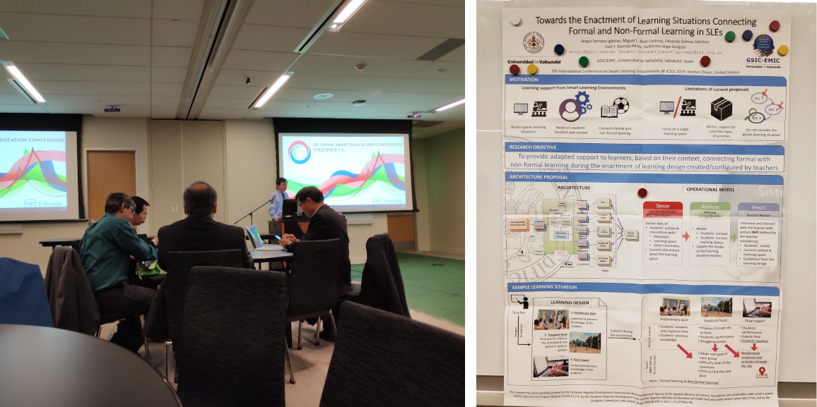 GSIC/EMIC researcher attended the International Conference on Smart Learning Environments (ICSLE 2019)